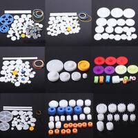 Kits Plastic Gears Pulley Belt Shaft Robot Motor DIY Toy Gear Set Worm Crown