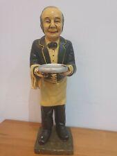 More details for vintage butler figure waiter/servant .