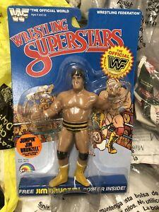1986 LJN WWF Wrestling Superstars Killer Bees Jim Brunzell MOC Bubble Lift Nice