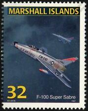 USAF North American Aviation F-100 SUPER SABRE Jet Aircraft Mint Stamp (1997)