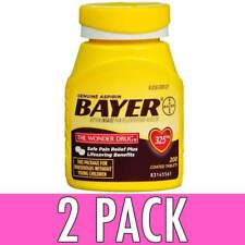 Genuine Bayer Aspirin 200 Coated Tablets 325mg Easy Open Cap -