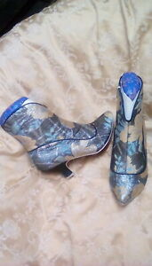 Eggie Soldiers Boots Leopard Print Irregular Choice SHoes