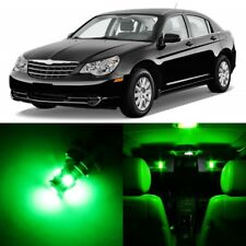 12 x Ultra Green Interior LED Light Package For 2007-2010 Chrysler Sebring +TOOL