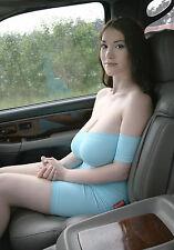PHOTO 6X8 Sexy Woman Big Busty - Beautiful Girls in Car - ANNA
