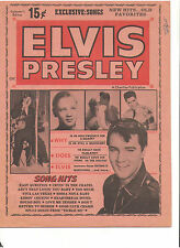 ELVIS PRESLEY COLLECTOR'S EDITION SONG SHEETS ARTICLES FALL 1965 OUT OF PRINT