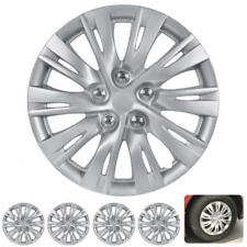 16 Inch Hubcaps 4 Pieces Set Rim Skin Hub Cap Covers ABS Plastic Snap On Install