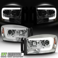 2006-2008 Dodge Ram 1500 2500 3500 Truck LED Tube Projector Headlights Headlamps