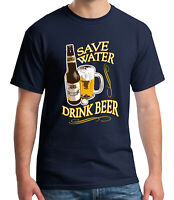 Save Water Adult's T-shirt Drink Beer Festival Tee for Men - 1381C