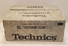 Technics SL 1200 MK3DK Black Agent Pro DJ Audiophile Turntable Brand New (RARE)