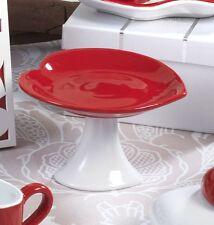 6pz Alzata dolci Cuore,13 cm in porcellana,Gift Box,Collezione Mandorle by Paben