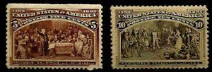 "United States Scott # 234 "" Columbian Issue 5 Cent "" Bright & Fresh Mint NH $160"
