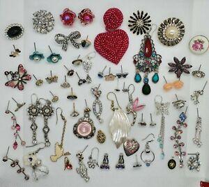 Vintage/Modern Style Odd with Few Pairs Costume  Jewellery Earrings Joblot 💐