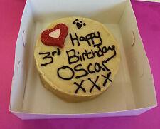 DOG BIRTHDAY CAKE CUSTOM CAROB PEANUT BUTTER TREAT PARTY HEART FOOD PRESENT
