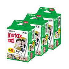 3x Fuji Fujifilm Instax Mini Instant Film 2 Films Twin Pack 60 Pictures Set
