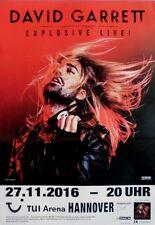 GARRETT, DAVID - 2016 - Konzertplakat - Explosive - Tourposter - Hannover