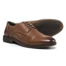 Josef Seibel Men's Myles US 10.5 EU 44 Brown Perf Leather Oxfords Shoes $140.00