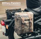 Royal Enfield Wax Canvas Military Pannier Pair Beige for Classic 350 & 500