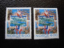 NORVEGE - timbre yvert et tellier n° 1000 x2 obl (A04) stamp norway (Z)