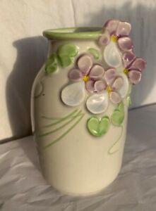 Vintage Swedish Rosa Ljung i Torekov vase with pansy / pansies 14cm tall RARE