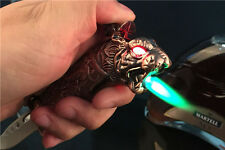 1pcs Novel Folding Knife Windproof Refill Butane Gas Jet Flame Cigarette Lighter