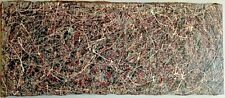 JACKSON POLLOCK ACTION PAINTING ON CANVAS IN GOOD CONDITION