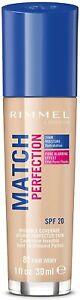 Rimmel Match Perfection Foundation 81 Fair Ivory 30ml - Multibuy discount 25%