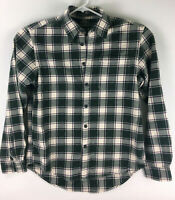 Eddie Bauer Relaxed Fit Plaid Flannel Shirt Button Front Mens Size Medium