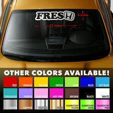 "FRESH HONDA Windshield Banner Vinyl Heat Resisted Premium Decal Sticker 22""x6"""