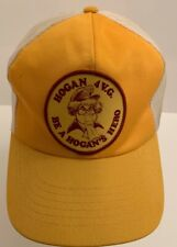Vintage 1970's BE A HOGAN'S HERO 4 V.G. Snapback Mesh Yellow Trucker Hat RARE