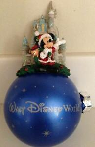 Walt Disney World Parks CINDERELLA CASTLE SANTA MICKEY DUFFY Christmas Ornament
