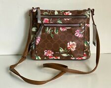 NEW! NINE WEST CORALIA BOURBON FLORAL CROSSBODY MESSENGER SLING BAG PURSE SALE