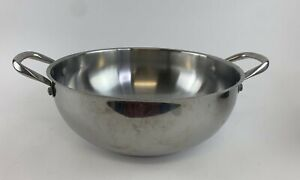"""Wolfgang Puck Cafe Collection 12"""" Chef's Pot Stainless Steel"""