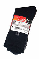 3 PAIRS MENS SZ 7-11 NAVY MERINO WOOL THERMAL CUSHION FOOT WORK SOCKS