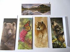 Defenders Of Wildlife Blank Greeting Card Lot of 5 Various