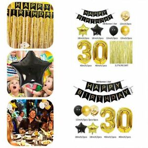 18/30/40th Birthday Party Balloon Decorations Bundle Large Number Supplies Set
