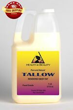 TALLOW ORGANIC GRASS-FED RENDERED BEEF FAT by H&B Oils Center 100% PURE 7 LB