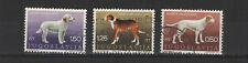 Yougoslavie  1970 chiens de race yougoslave  3 timbres oblitérés /T2162