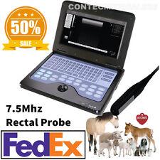 US Seller CE Veterinary Laptop Machine Ultrasound scanner Vet 7.5M Rectal Probe