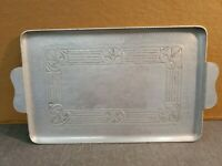 "Vintage Everlast Metal Hand Forged Hammered Aluminum Serving Tray 14"" X 9"""