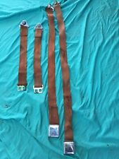 Red Seat Belts 64 65 66 Valiant Dodge Charger Dart Plymouth Satellite Barracuda