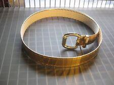 Women's Stylish Gold Slatted Metal Belt size Medium