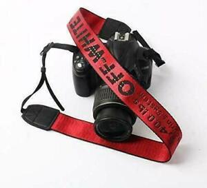 Red OFF-WHITE Camera Shoulder Strap Silky Camcorder Neck Lanyard for DSLR