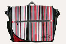 NEW ~ BNIB Baby Nappy Bag Change Mat Grey Red Retro Stripes ~ Little Beetle GIFT