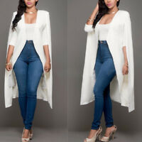 New Womens Long Trench Poncho Cape Coat Jacket Suit Cloak Shawl Outwear Cardigan