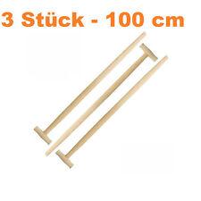 3 x Spatenstiel Grabegabel Spatengabel Stiel Holzstiel T Griff 100cm Set Ø 36