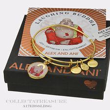 Authentic Alex and Ani Laughing Buddha Yellow Gold Charm Bangle