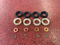 FORD FOCUS 1.6 TDCI 2003-10 4 x INJECTOR SEALS+ PROTECTORS + WASHERS + O RINGS