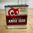 Vintage 1948 Red Owl Minneapolis Spice Whole Anise Seed 1.25 oz Tin Can Full