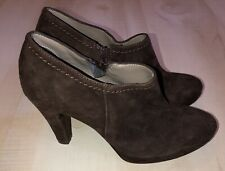 Nara Shoes Vera Pelle Italian Suede Brown Leather Ankle Boot Size 37 US 7