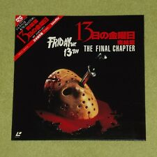 FRIDAY THE 13TH PART IV 4: The Final Chapter - RARE 1985 JAPAN LASERDISC + OBI